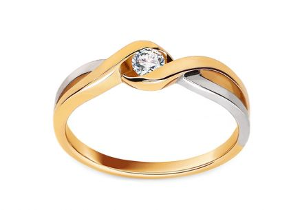 Anello di fidanzamento con diamante da 0,100 ct Loving moments