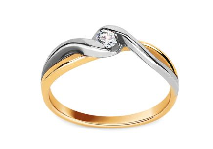 Anello di fidanzamento d´oro con diamante da 0,070 ct Loving moments