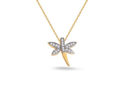 Collana libellula in oro Dragonfly