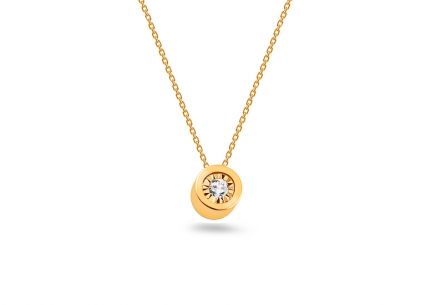 Collana in oro con diamante 0,0145 ct